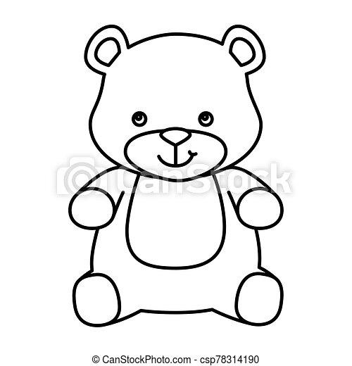 cute teddy bear isolated icon - csp78314190
