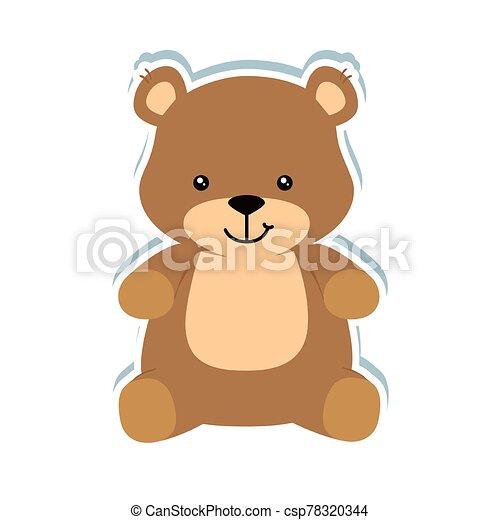 cute teddy bear isolated icon - csp78320344