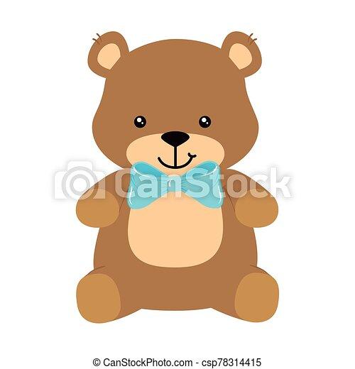 cute teddy bear isolated icon - csp78314415