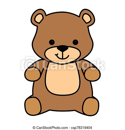 cute teddy bear isolated icon - csp78319404