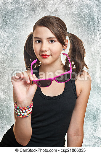 cute teen girl with pigtails csp21886835 - Cute Teen Com