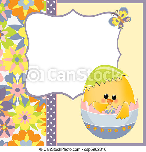 Cute Template For Easter Postcard Cute Template For Easter  Clip