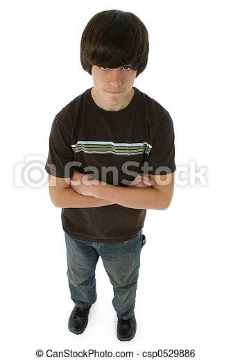 Cute Thirteen Year Old Boy - csp0529886