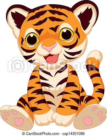 vector illustration of cute tiger cartoon vector search clip art rh canstockphoto ie cute baby tiger clipart cute baby tiger clipart