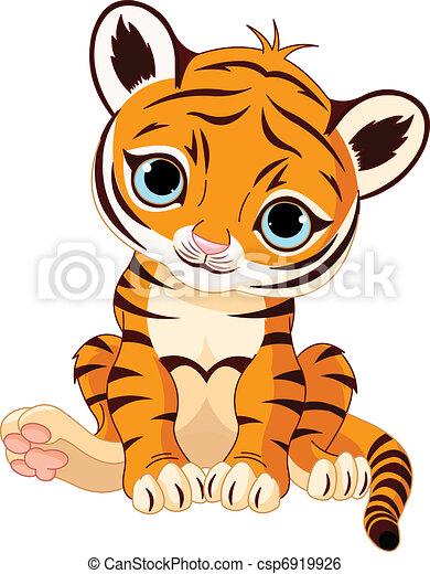 Cute tiger cub - csp6919926
