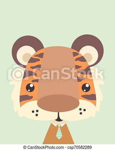 Cute tiger. - csp70582289