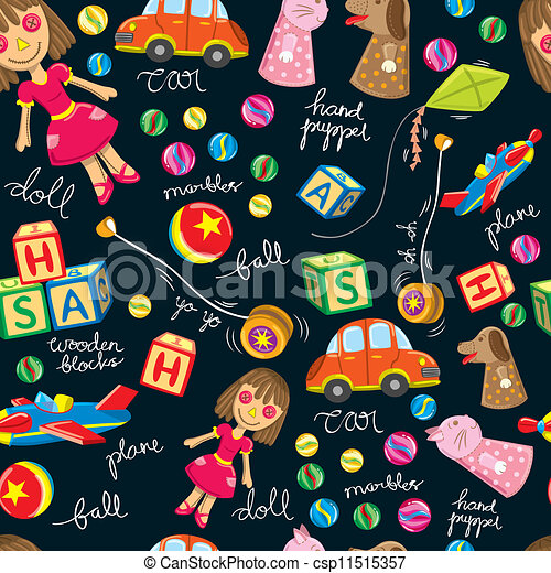 Cute Toys Vintage Background