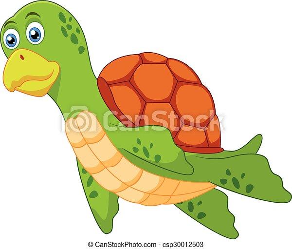 Cute turtle cartoon - csp30012503