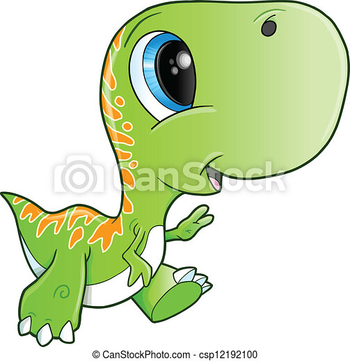 Cute Tyrannosaurus Rex Dinosaur T Rex Vector
