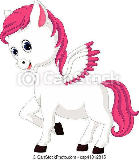Cute unicorn cartoon - csp41012815