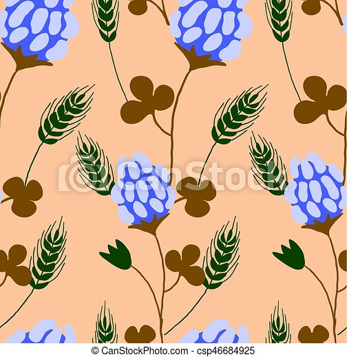 Cute vector floral seamless pattern