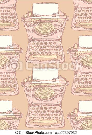 Cute vector type machine - csp22897932