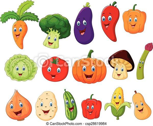 Cute vegetable cartoon character - csp28619984