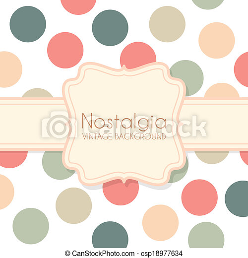 Cute Vintage Background with Frame - csp18977634