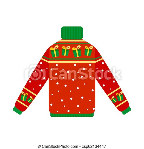 Christmas Sweaters Cute.Cute Warm Christmas Sweater For The Winter Cute Warm Red