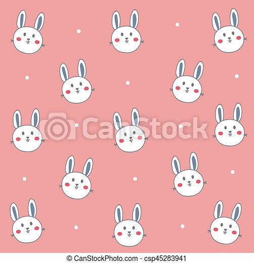 Cute White Bunny Wallpaper