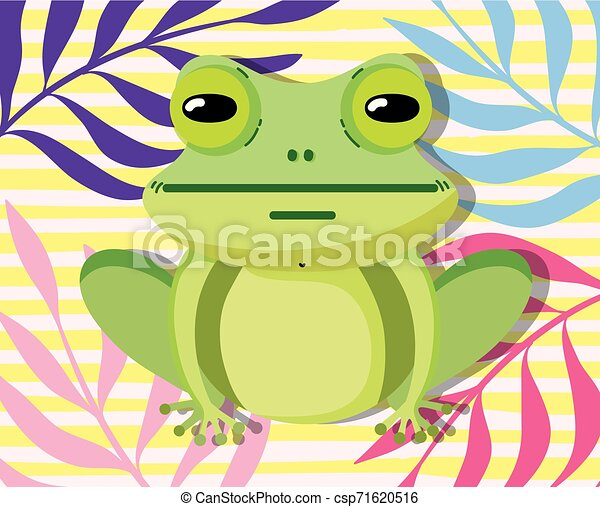 Cute wildlife animals cartoons - csp71620516
