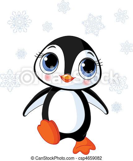 Cute winter penguin - csp4659082