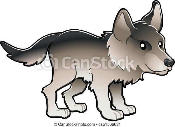 Cute Wolf Vector Illustration - csp1566631