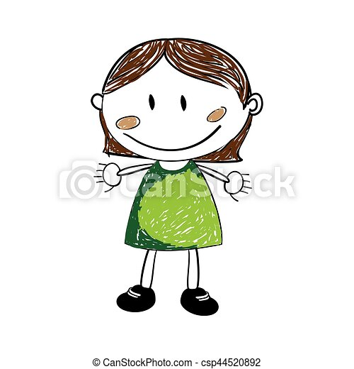 cute woman drawing icon - csp44520892