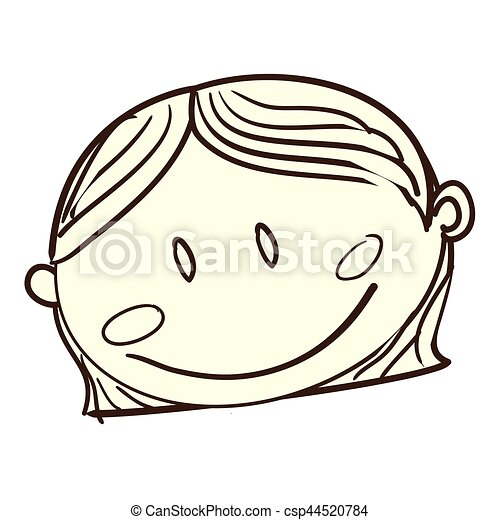 cute woman drawing icon - csp44520784