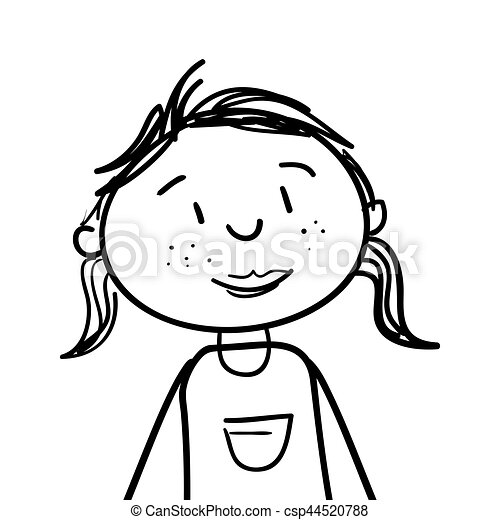 cute woman drawing icon - csp44520788
