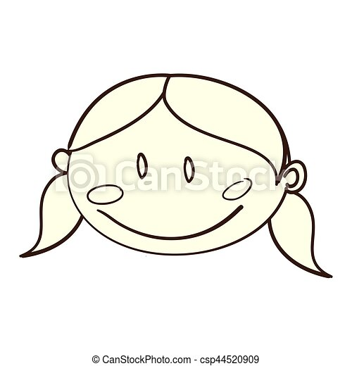 cute woman drawing icon - csp44520909