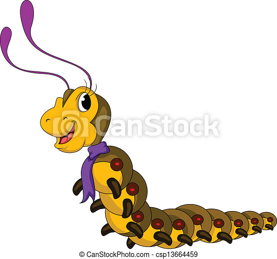 Caterpillar Png Clipart Background - Animated Picture Of Worm, Transparent  Png - kindpng