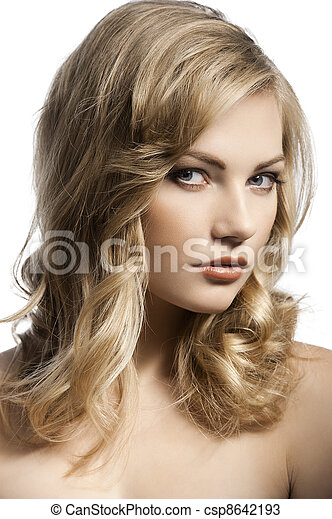 cute young girl with stylish hair - csp8642193
