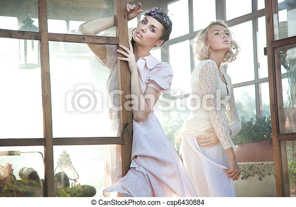 Cute young women posing - csp6430884