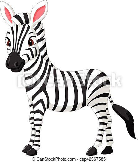 vector illustration of cute zebra cartoon vector search clip art rh canstockphoto com cute baby zebra clipart