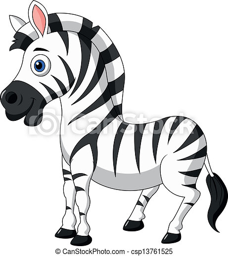 vector illustration of cute zebra cartoon vector illustration rh canstockphoto com  cute zebra clipart
