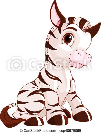 Cute Zebra - csp40679069
