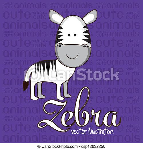 Cute zebra - csp12832250