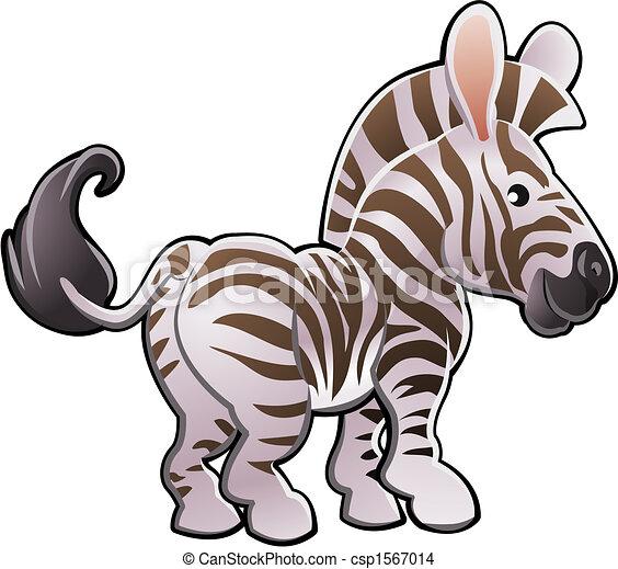 cute, zebra, ilustração, vetorial - csp1567014