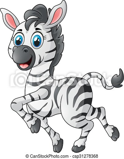 cute zebra running - csp31278368