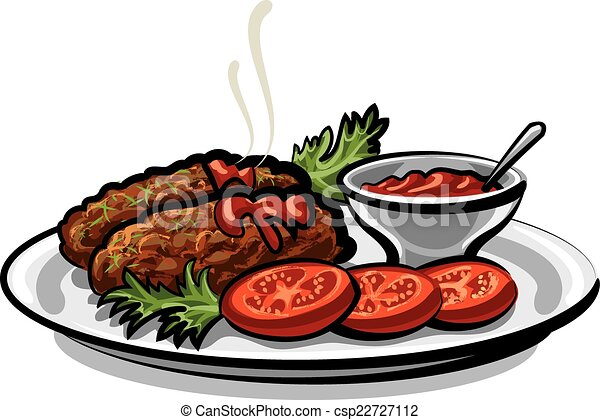 cutlets with sauce - csp22727112