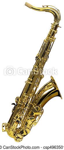 Cutout of Saxophone - csp4963501