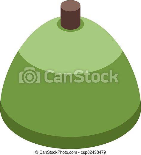 Cutted olive icon, isometric style - csp82438479