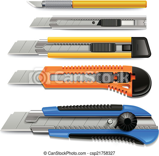 Cutter icons set. - csp21758327