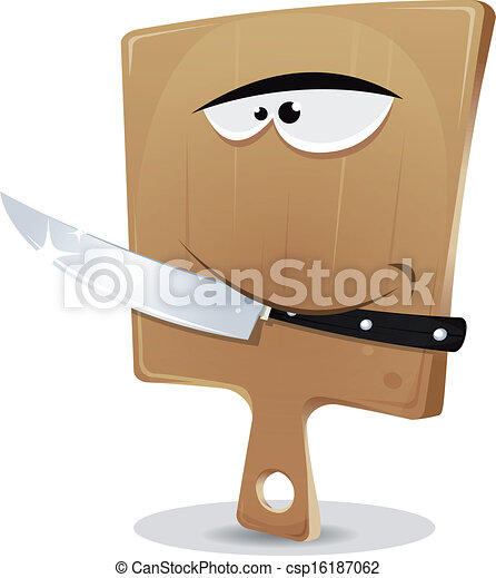 Cutting Board And Knife - csp16187062