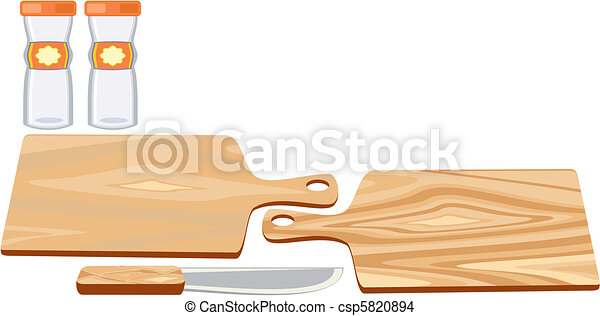 Cutting Board with knife - csp5820894