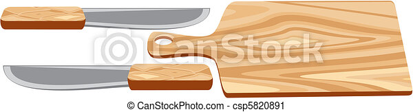 Cutting Board with knife - csp5820891