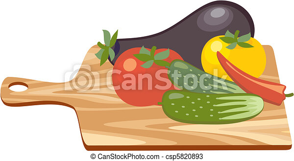 Cutting Board with Vegetables - csp5820893