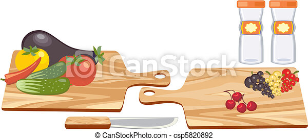 Cutting Board with Vegetables - csp5820892