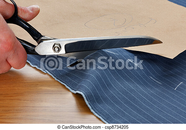 Cutting fabric for a suit - csp8734205