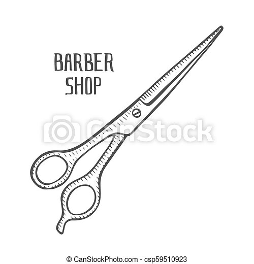 Hair Cutting Tools Drawing 50