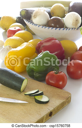 Cutting vegetables - csp15760758