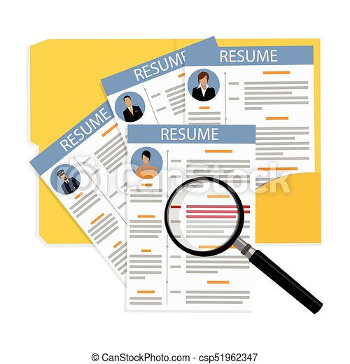 Cv And Resume Vector Illustration Business Portfolio Employment