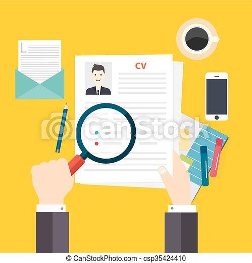 cv resume job interview concept writing a resume vector clip